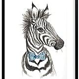 Pottery Barn Kids Dapper Zebra Wall Art