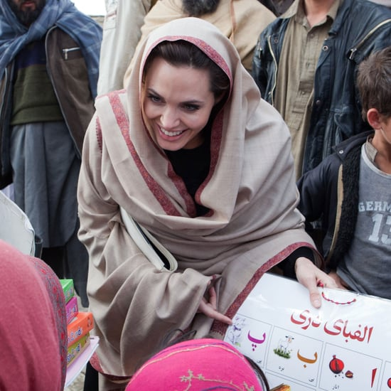 Pictures of Angelina Jolie in Afghanistan