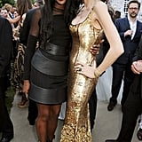 At London's Serpentine Gallery Summer Party, leggy ladies Naomi Campbell and L'Wren Scott turned heads.