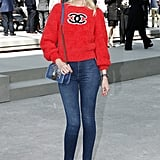 Claudia Schiffer Wore a Casual Chanel Look
