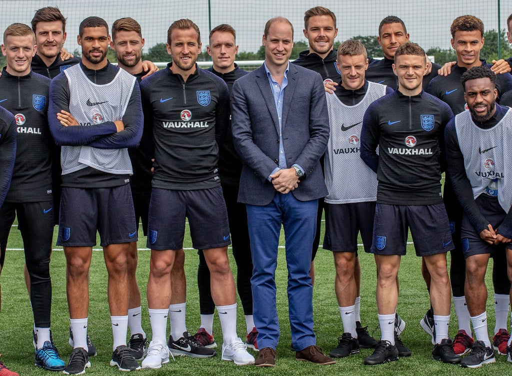 Prince William With England's Football Team June 2018 ...