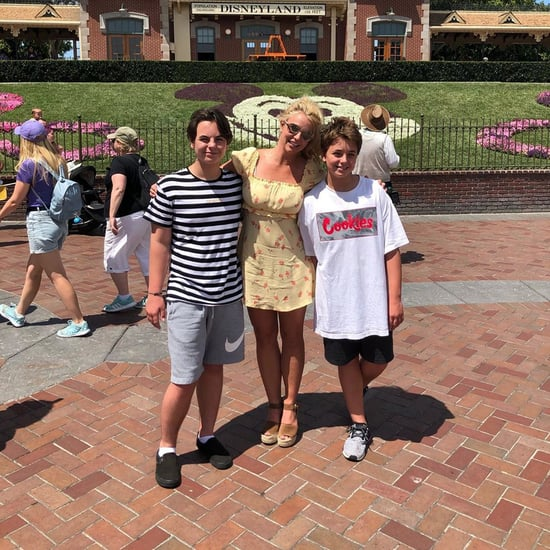 Britney Spears With Sons at Disneyland August 2019