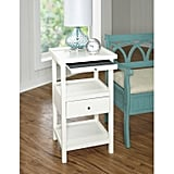Palmer White Accent Table With Shelf
