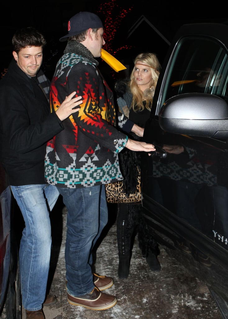 Pictures of Jessica Simpson and Eric Johnson Together in Aspen