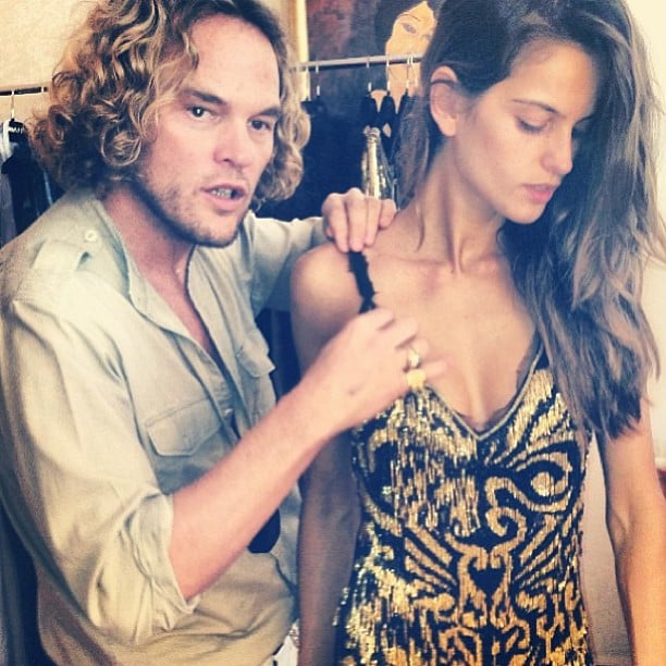 7e6ac74a99198 Izabel Goulart got styled up by Emilio Pucci designer Peter Dundas for the  amfAR Gala in