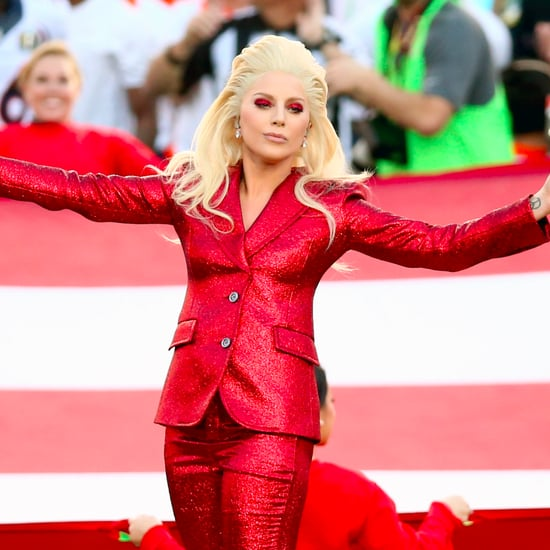 Lady Gaga Performing at the 2017 Super Bowl Halftime Show