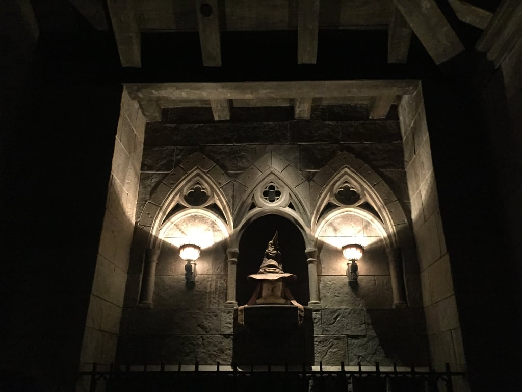 The Sorting Hat talks to you in Hogwarts Castle.