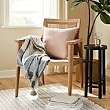 Heart & Hand Wood Cane Accent Chair