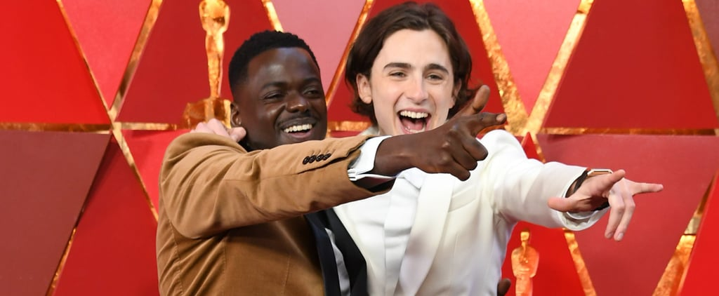 Timothee Chalamet at the 2018 Oscars