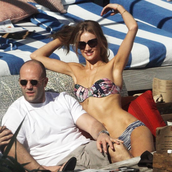 Rosie Huntington-Whiteley in a Bikini With Jason Statham