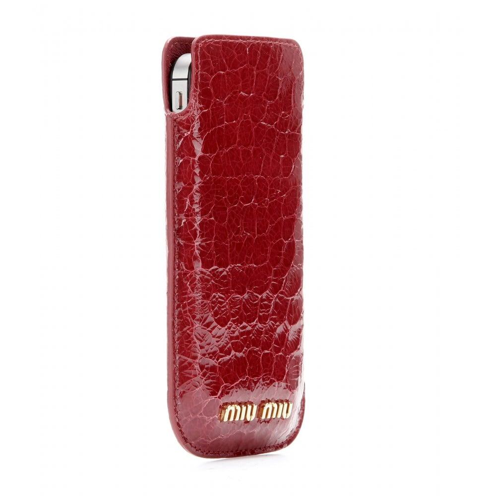 Miu Miu Snake Embossed Patent Leather iPhone Case