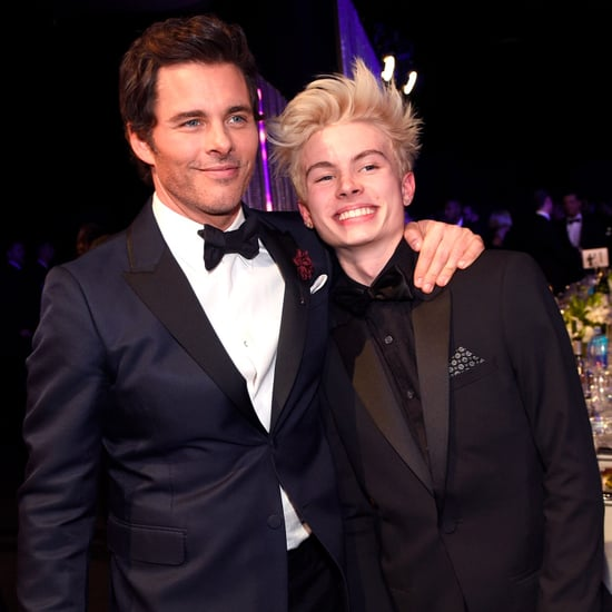 James Marsden and His Son at the 2017 SAG Awards