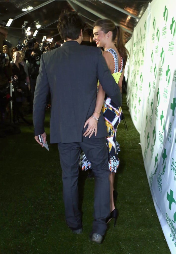 Miranda kept a cheeky hold on Orlando at Global Green USA's pre-Oscars party in Hollywood in Feb. 2013.