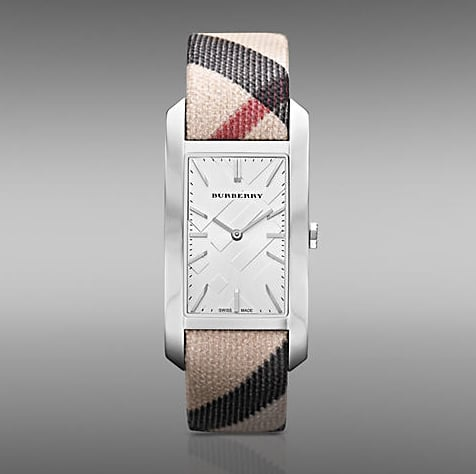 For the chic prepster, we love this classic Burberry check print and streamlined stainless steel face.  Burberry Nova Check Watch ($550)