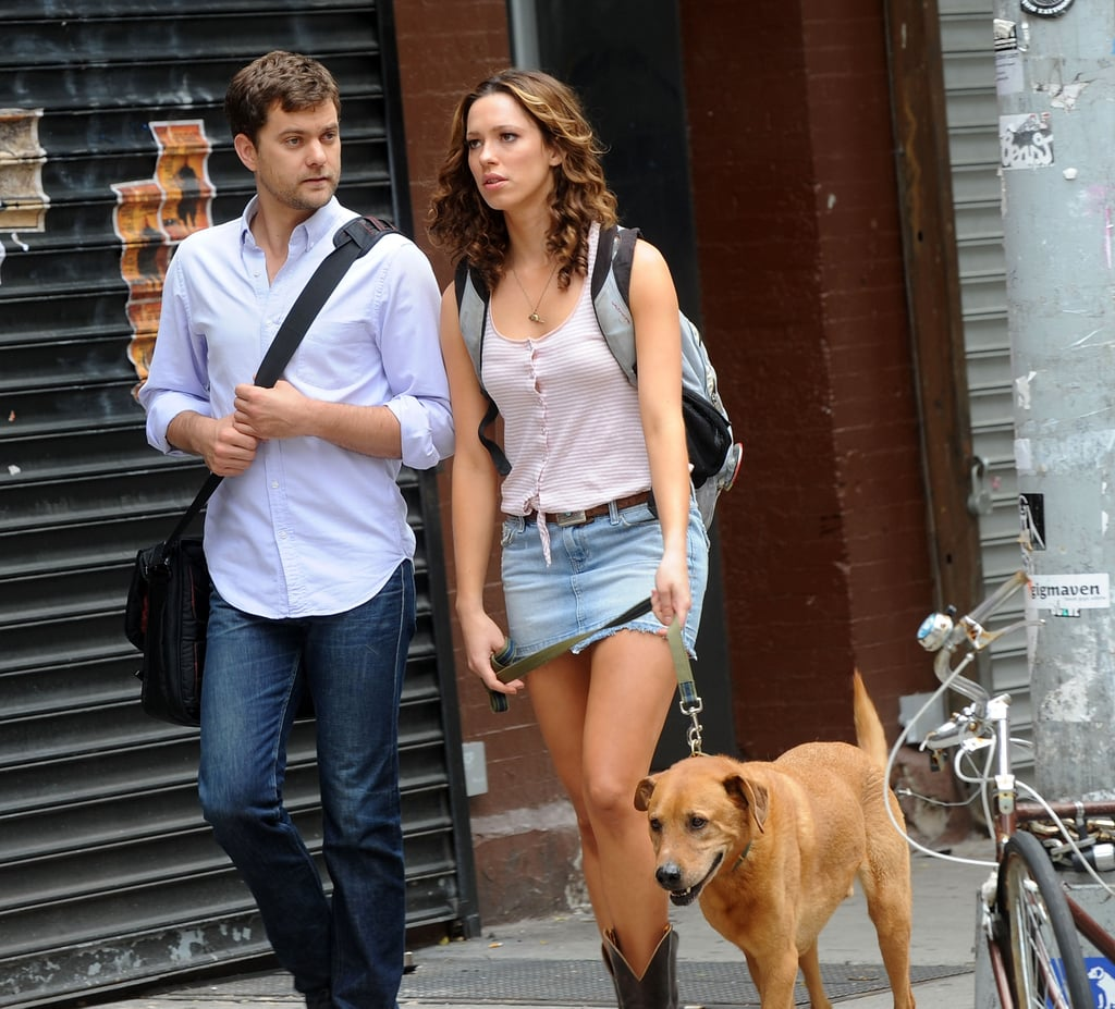 The Favorite White Budget Friendly Curtains: Pictures Of Joshua Jackson And Rebecca Hall Filming Lay