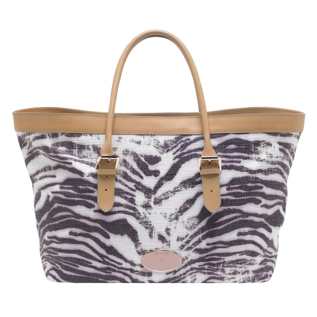 8627c7f027 Mulberry are adding cruise pieces to their collection. This beach tote in pink  trippy tiger