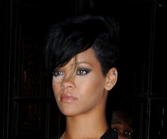 Rihanna's Blond-Streaked Bangs