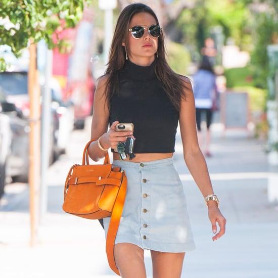 Alessandra Ambrosio '90s Street Style October 2015