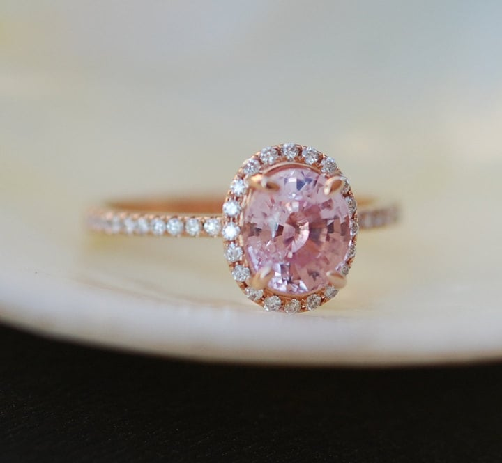 Etsy peach sapphire engagement ring princess eugenies engagement etsy peach sapphire engagement ring junglespirit Choice Image