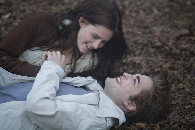 Bella and Edward get playful as they get to know each other in the first movie.