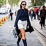 Cowboy boots and a duster will transform your basic shorts.