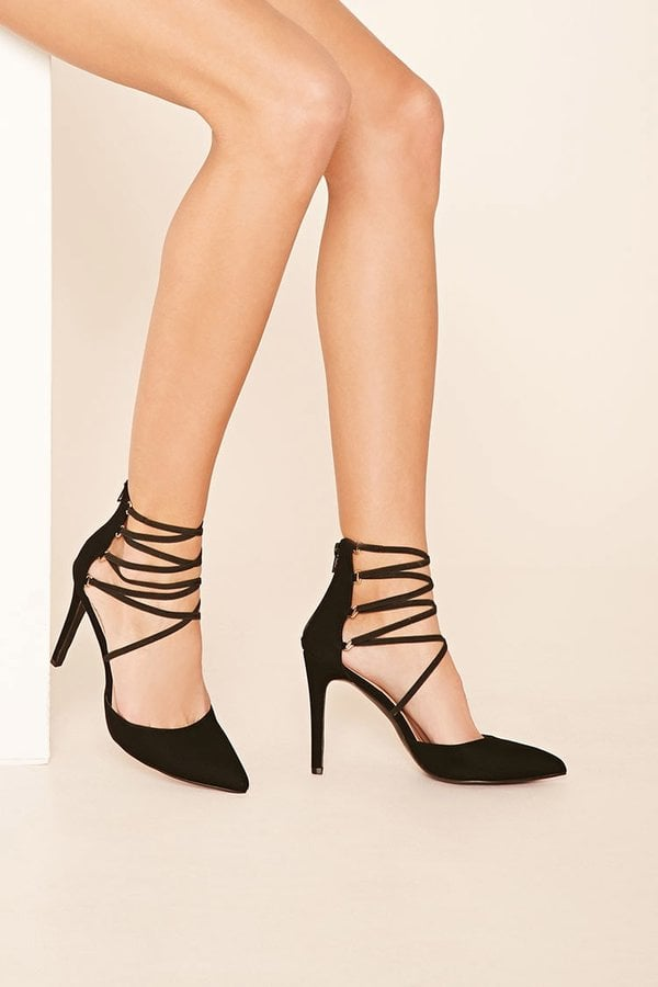 Strappy Heels to Spice Up Simple Looks
