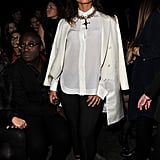 Alica Keys was front row at Givenchy.