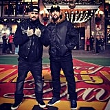 Benji and Joel Madden shared a photo from the Macy's Thanksgiving Day Parade in NYC.