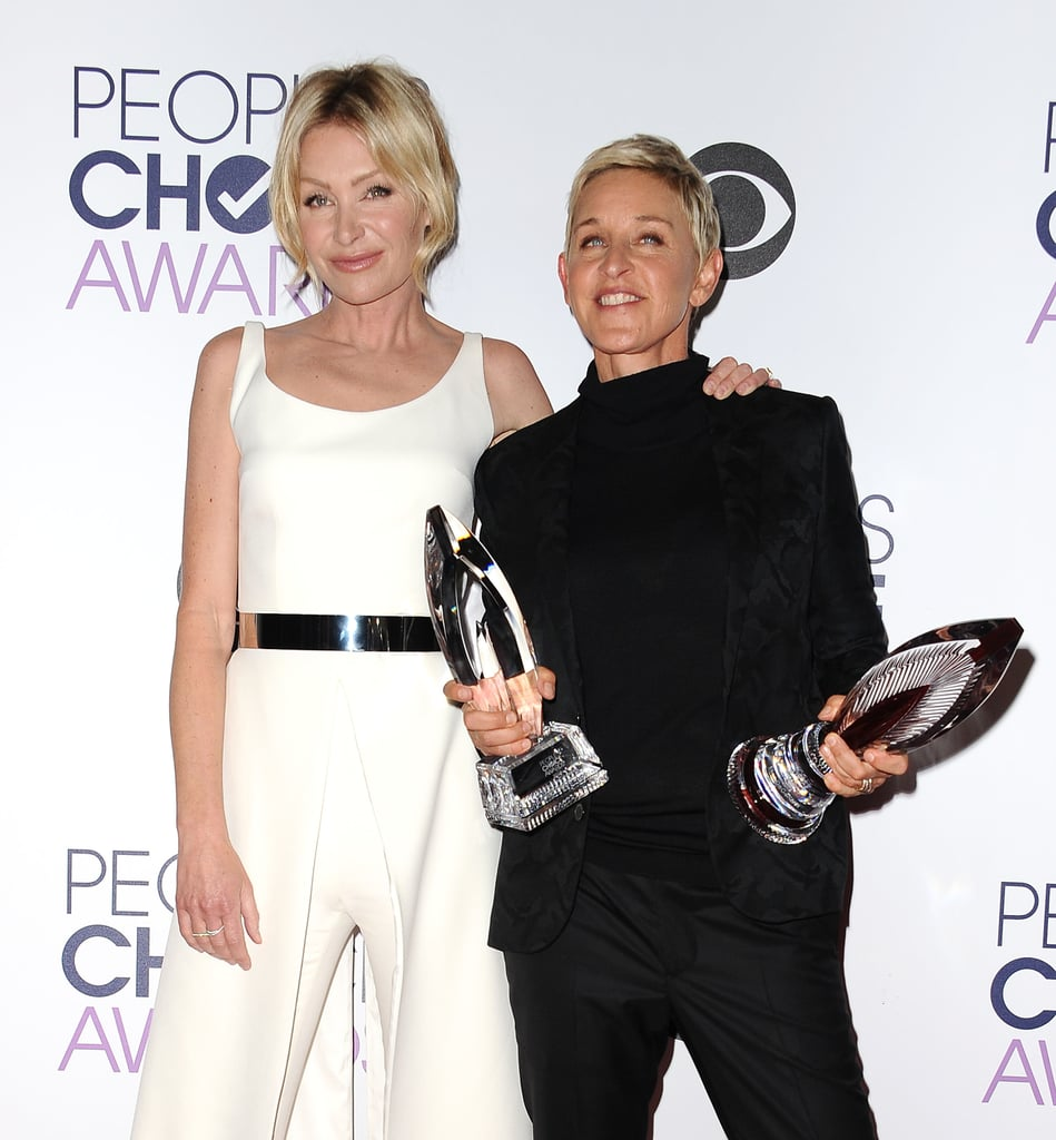 Portia De Rossi Wedding Gown: Ellen DeGeneres Portia De Rossi People's Choice Awards