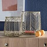 Handmade Chevron Wire Basket Set