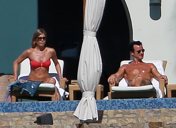 She and Justin Theroux soaked up the rays in Cabo together in December 2012.