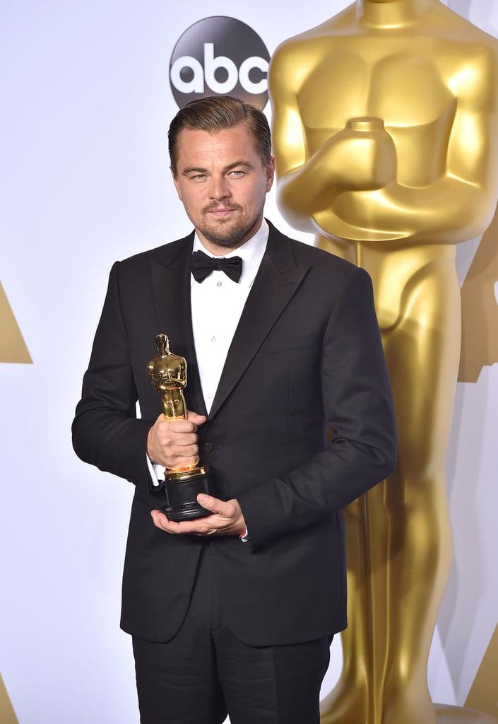 """""""I Just Won My First Oscar"""" Leo"""