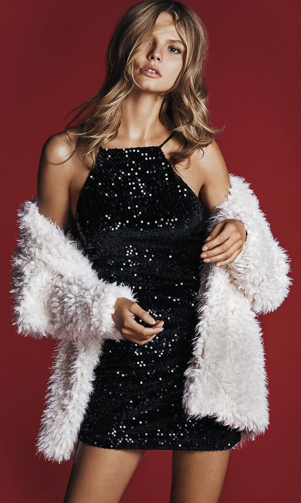 Express Strapped Sequined Dress ($70)