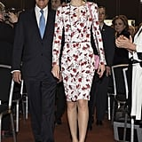Queen Letizia's Carolina Herrera Dress