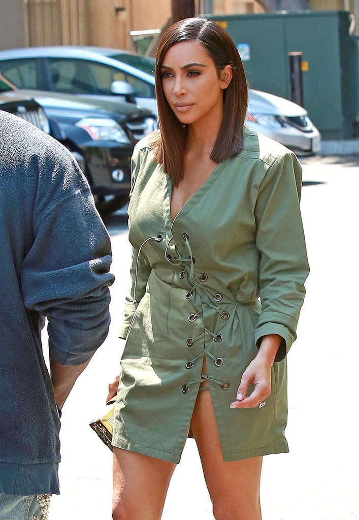 Kim Kardashians Asymmetrical Haircut Summer 2016 Popsugar Beauty