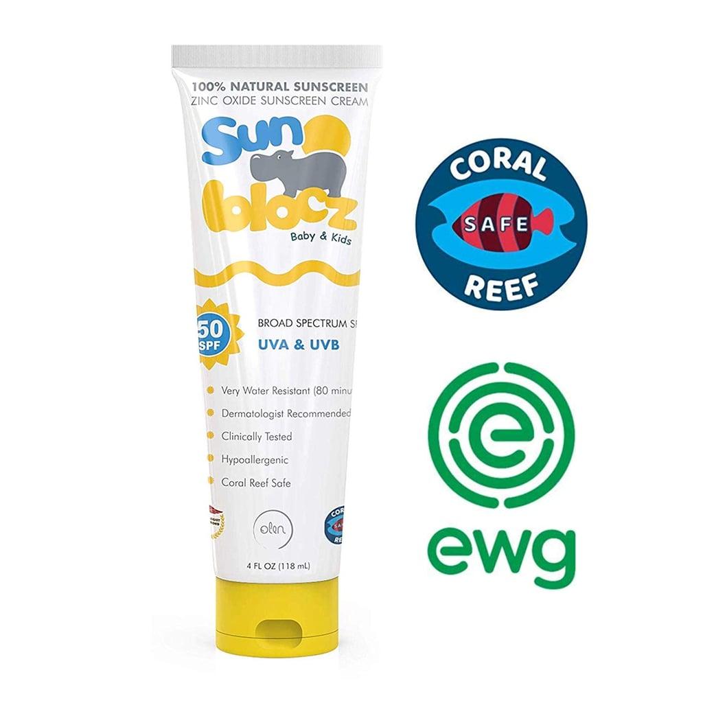 Sunblocz Baby & Kids Zinc Oxide Sunscreen Cream, SPF 50