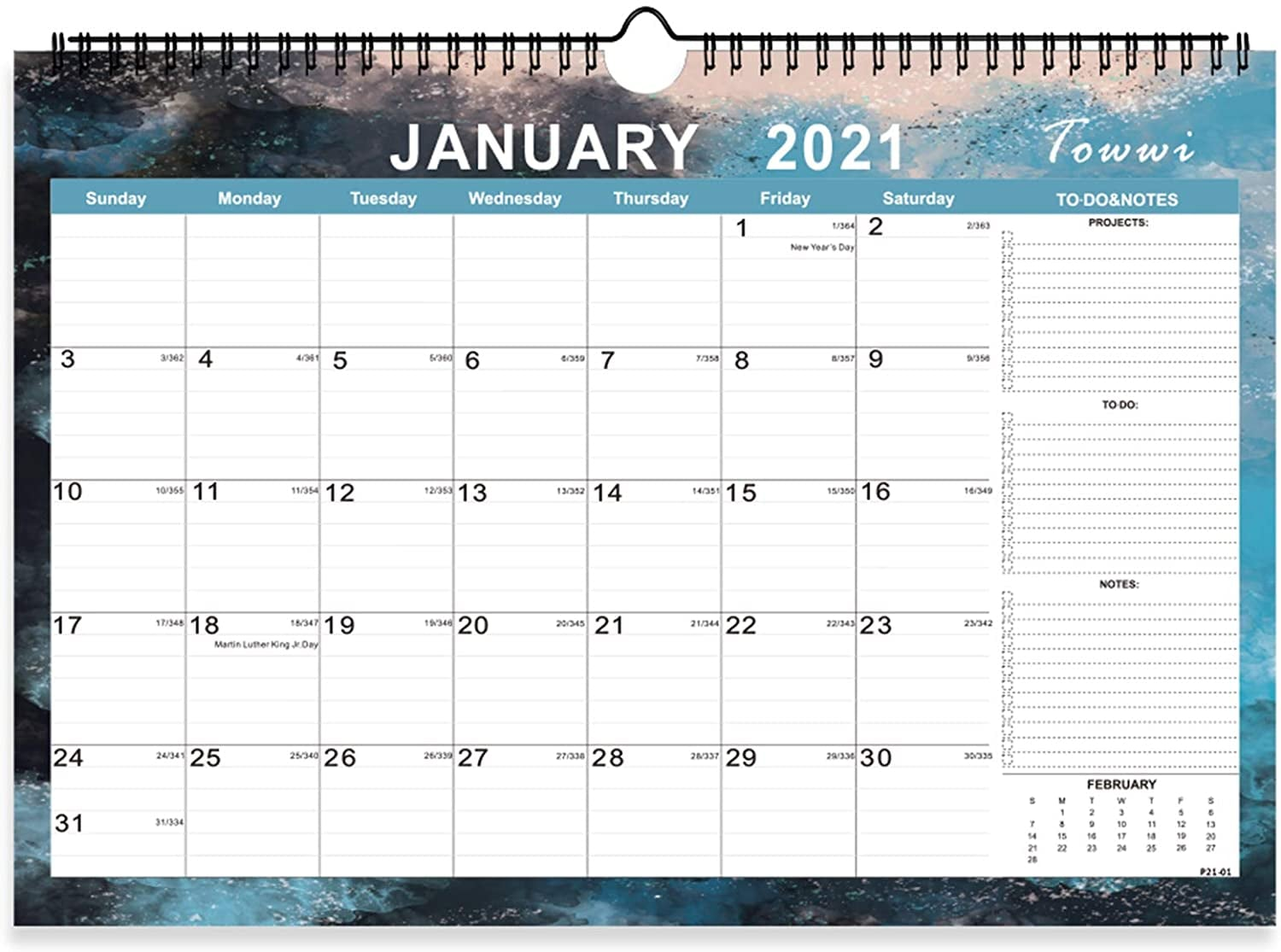 Fit Academic Calendar 2022.Towwi Monthly Academic Wall Calendar 2021 2022 20 Unique Calendars That Will Keep You On Track For 2021 Popsugar Smart Living Photo 20
