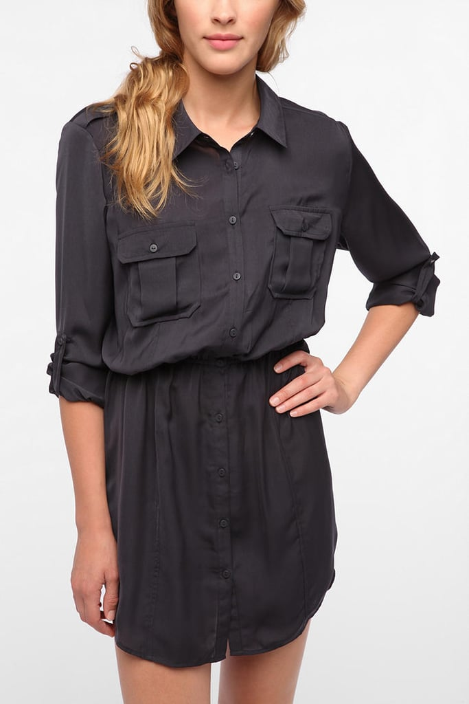 Back-to-school staple: BDG Silky Utility Shirtdress ($59) Why it shouldn't be overlooked: Let's be honest; the LBD — while great on weekends — isn't always the first thing you want to wear to class. With this slightly modified and much more casual black shirtdress, you can go from wearing it with high-top Chucks to adding a statement necklace and black sandals for a more polished, dinner-bound feel.