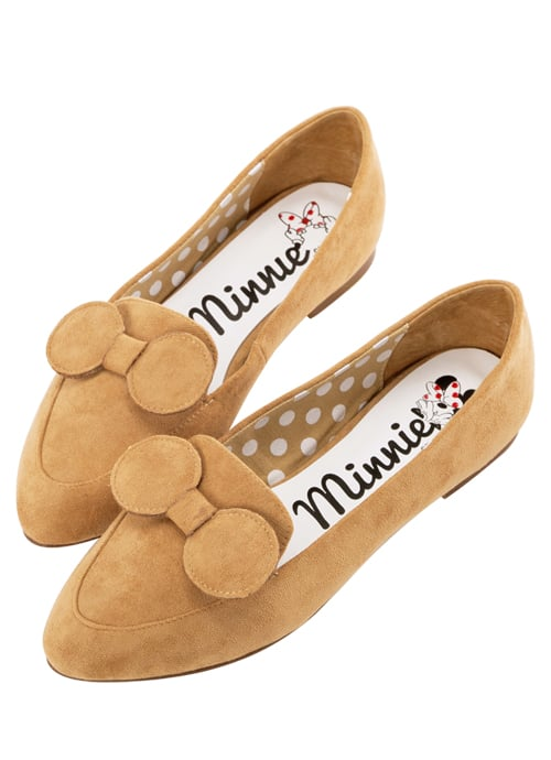 Minnie Mouse Bow Tie Loafers in Camel ($48)