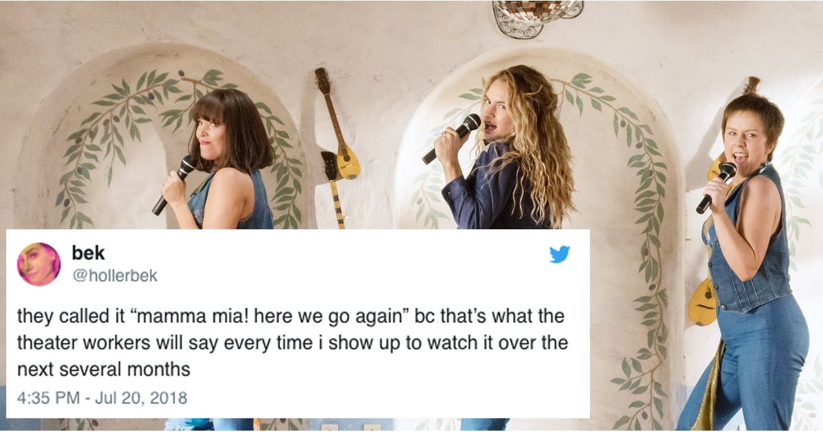 Reactions To Mamma Mia Here We Go Again 2018 Popsugar Entertainment