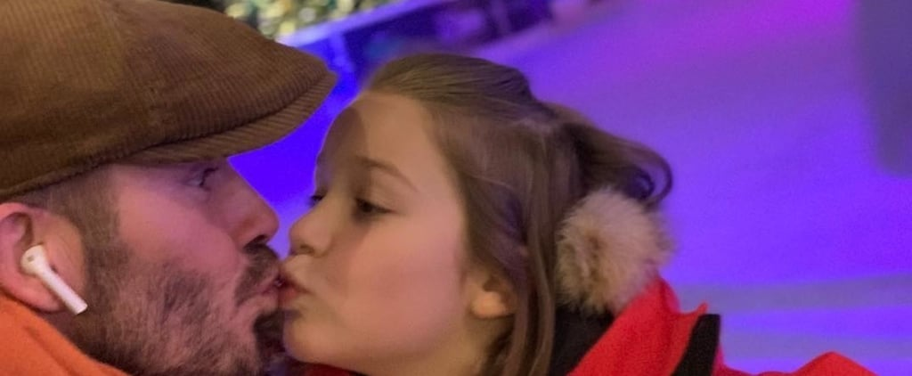 David Beckham and Harper Beckham Ice Skating November 2018