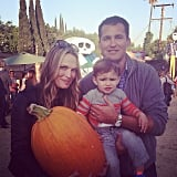 Brooks Stuber picked out one giant pumpkin at the Mr. Bones pumpkin patch in LA. Source: Instagram user mollybsims