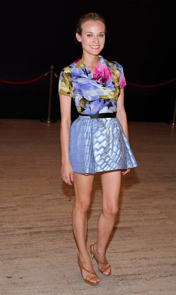 Diane looked simply lovely in florals in 2008.
