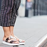 These metallic slides are eye-catching no matter what you're wearing.
