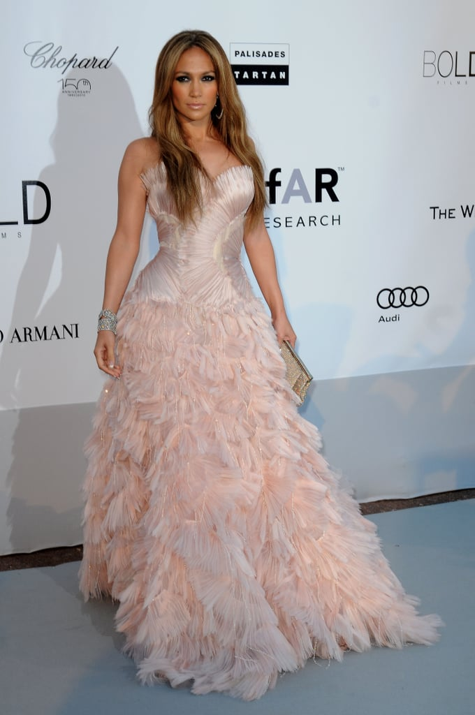 Jennifer Lopez Wearing Roberto Cavalli to the 2010 Cinema Against AIDS Benefit Gala