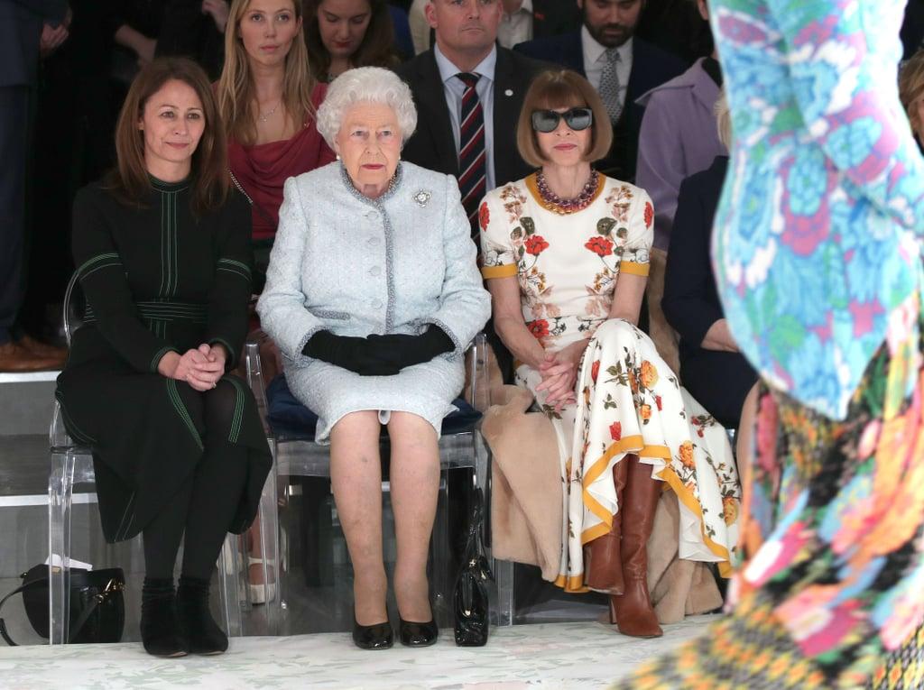 Queen Elizabeth at Fashion Week 2018