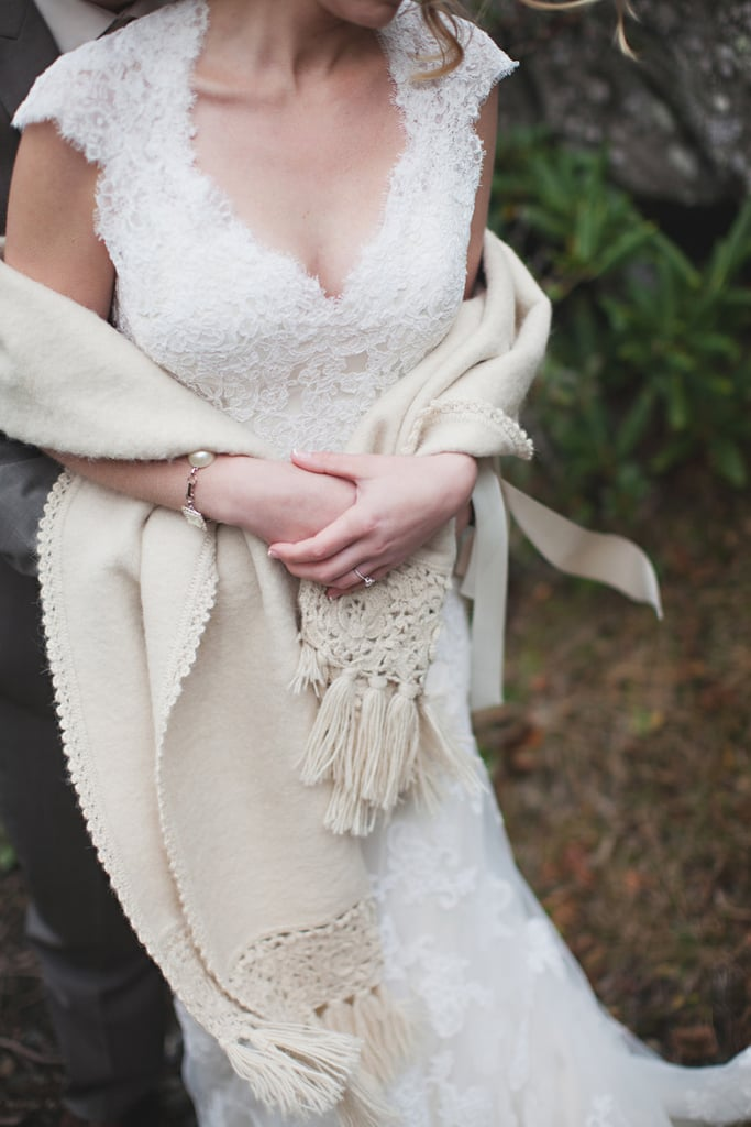 edf9ef3cccd3 A Cozy Macramé | Cold-Weather Wedding Dress Cover-Ups | POPSUGAR ...