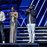 Alicia Keys and Boyz II Men at the 2020 Grammys