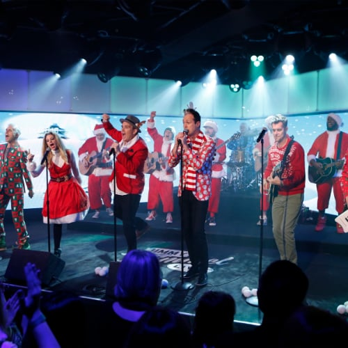 "Band of Merrymakers Performs ""Snow Snow Snow"""