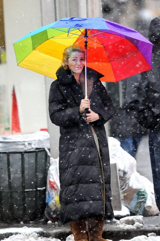 Blake Lively Brightens Up a New York Blizzard